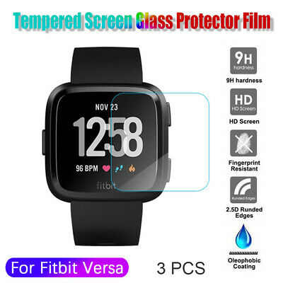 9H HD Tempered Glass Protective Film Screen Protector For Fitbit Versa 3pcs