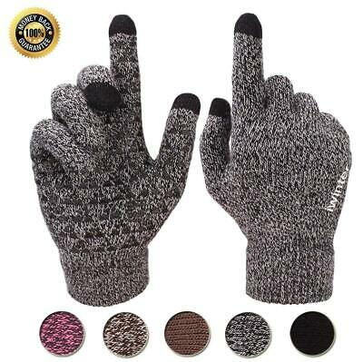 Women Winter Phone Touch Screen Gloves Thermal Ladies Warm Lined Christmas Gifts