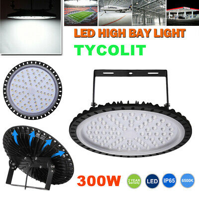 300W LED High Bay Light UFO Type IP65 Outdoor Commercial Warehouse Disc Light UK