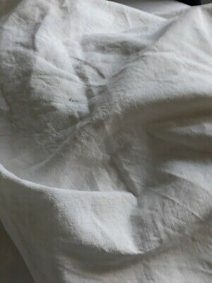 Antique vintage french linen metis double sheet fabric for projects