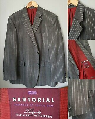 Marks and Spencer Sartorial by Timothy Everest Pinstripe Suit Jacket Blazer 48R