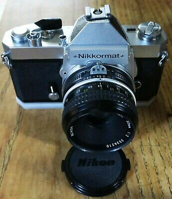NiKKormat FT2 Siver camera Body with Nikkor 50mm 1:2 Lens ( Ai)