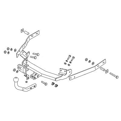 Oris Towbar for Renault 19 Phase Hatchback 1992-1998 - Fixed Swan Neck Tow Bar