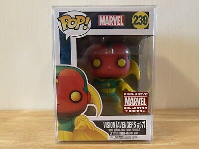 Funko Pop Marvel Comics  Vision #239(Avengers #57) Collectors Corps Exclusive.