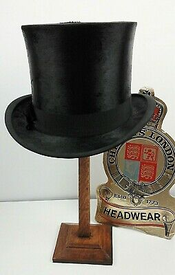 Vintage Christys' London, Black Silk Top Hat 6 7/8, C.1910's  Ascot, Weddings.