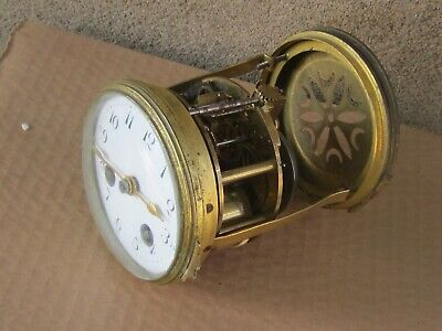 ANTIQUE FRENCH PORTICO CLOCK  MOVEMENT  SET - Working