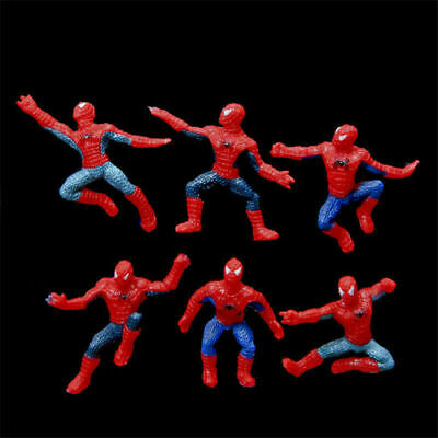 6pcs  New Spiderman Different Action Figure Decoration collectible Toy Kid Gift