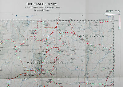 1959 old OS Ordnance Survey 1:25000 First Series Prov map TL 51 Hatfield Heath