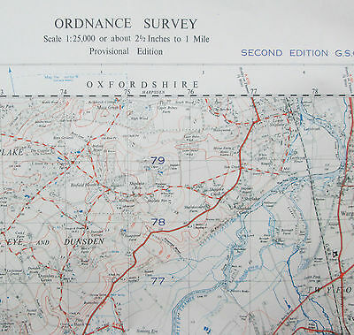 1953 Old OS Ordnance Survey 1:25000 First Series Map SU88 Marlow War Office
