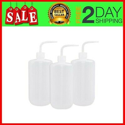 3Pcs 1000Ml Ldpe Safety Wash Bottle, Plastic Squeeze Tattoo Bottle Med