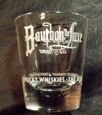 Bourbon Deluxe Clear Glass Louisville Ky Shot Glass 2 1/4 Inches High