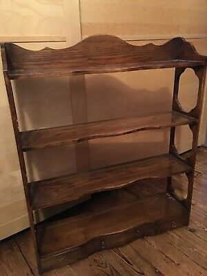 Warring And Gillow Solid Oak wall Plate Unit with Drawers.