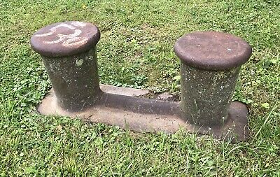 "Cast Iron 44"" Long, 530 lb. Vintage Ship Dock Cleat"