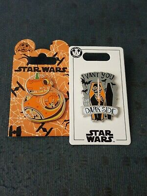 Disney Star Wars BB-8 Droid Pumpkin Darth Vader  Halloween Trading Pins free shp