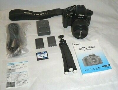 Canon EOS 400D Digital SLR Camera complete kit: Lens + Many Extras! A1 condition