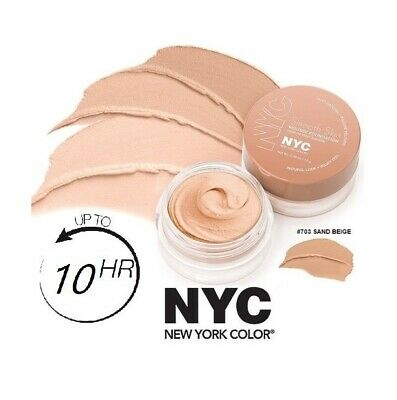 NYC Smooth Skin Maquillaje Mousse Foundation Make Up 703 Sand Beige