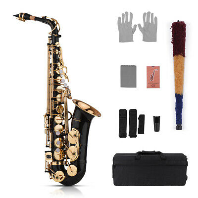 Professional Band Eb Alto Sax Saxophone Paint Gold with Case & Accessories C5B0