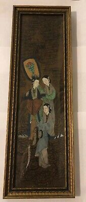 Chinese antique painting Ladies preparing newly woven silk Tang dynasty Figures