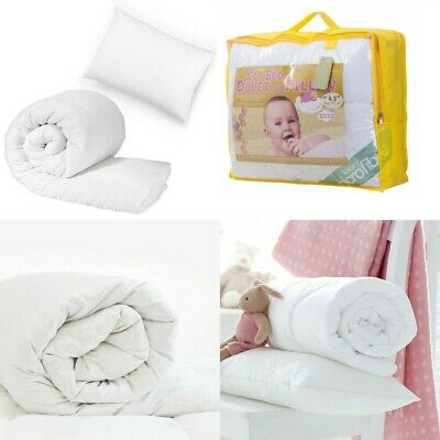 Hypo Allergenic Cotbed Microfibre Baby Duvet Toddler Junior Soft Quilt & Pillow