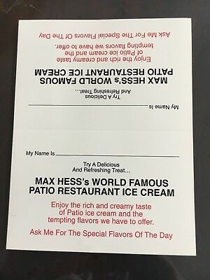 Hess's/Hess Brothers of Allentown, PA Patio Restaurant Ice Cream Sign