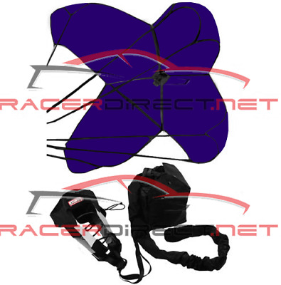 Racerdirect 790 Jr Dragster Parachute Spring Loaded Purple Racing Safety Chute