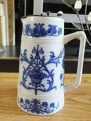 Antique Macintyre Blue And White Florin Ware Jug