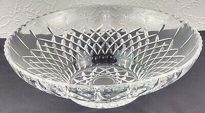 Vintage Large Cut Clear Glass Display Fruit Bowl Home Decor Christmas