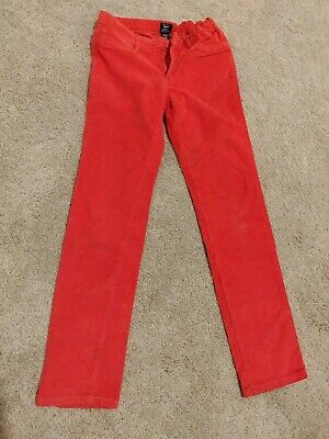NWNT Gap girl's skinny fit red corduroy trouser jeans 10-11 Years adjustable