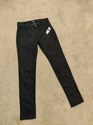 New with tag Gap Glitter Sparkle Blue Trousers Age 12