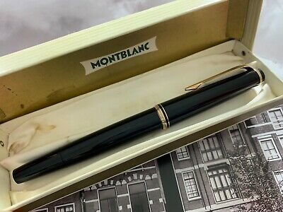 Vintage restored late 1960s MONTBLANC No. 24 PiF Black GFM Fountain Pen With Box