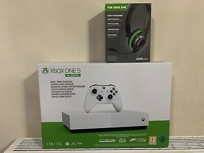 Microsoft Xbox One S 1TB Console + Gameware chat Headset - White BRAND NEW (2)