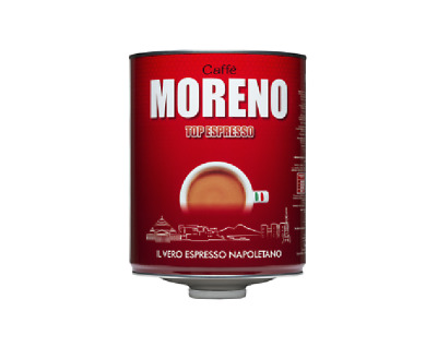 """12 kg Roasted Coffee Blend """"Moreno TOP EXPRESSO"""" carton of 4 Pieces x 3 KG Italy"""