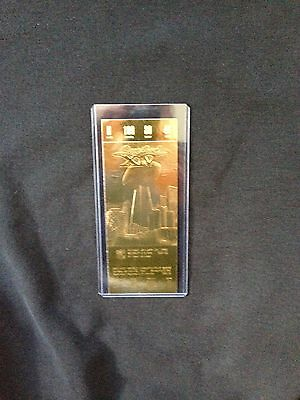 Los Angeles Rams vs. Pittsburgh Steelers Super Bowl XIV 22kt Gold Ticket (NEW)