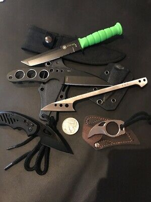 5 Knives - Bulk Factory 2nds Sale Fixed Blade, Pocket Knife Tactical