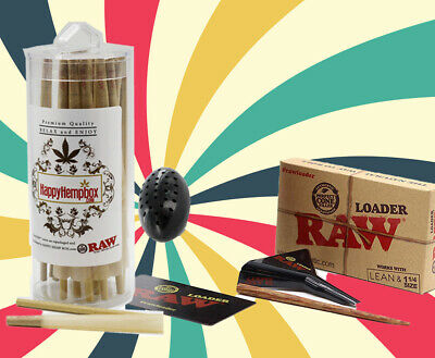 RAW Lean Size Pre-Rolled Cones (100 Pack) +Zeppellin Mini Blimpifier+ Loader