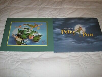 Disney Peter Pan Lithograph Brand New Ready To Frame