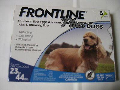FRONTLINE PLUS for Dogs 23-44 Lbs 6 Month Supply MERIAL FREE SHIPPING USA