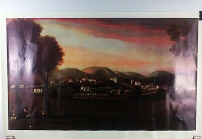 Colonial People Art Landscape Poster 28 x 18