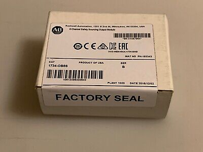 Allen-Bradley Sealed 1734-OB8S 8-Channel Safety Sourcing Output Module Series B