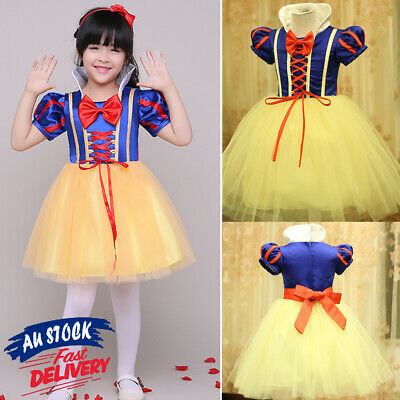 Princess Belle Kid Gown Dress Party Child Dresses Frozen Girl Cinderella Costume