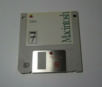 Apple Macintosh Tidbits - 1991 - Version 7 Genuine Apple  Floppy Disk - edc