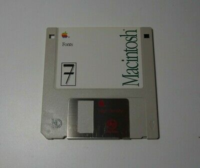 Apple Macintosh Fonts - 1991 - Version 7 - Genuine Apple  Floppy Disk - edc