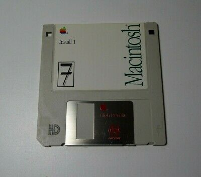 Apple Macintosh Install 1 - 1991 - Version 7 - Genuine Apple  Floppy Disk - edc