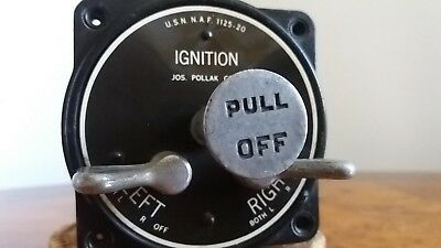 WWII American NAVY Airplane Dual Bendix Ignition Magneto Switch Pollak Scintilla