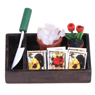1/12 Dollhouse Miniature Simulation Horticulture Box Garden Tools Accessory.
