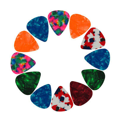 12PCS 0.46mm Celluloid Guitar Picks Plectrums For Acoustic Electric Guitar Bass