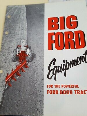 Ford 6000 tractor Equipment Brochure