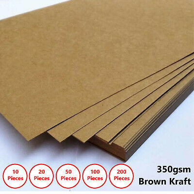 A4 Brown Kraft Paper Sheet 350GSM Natural Recycled Invitation Wedding