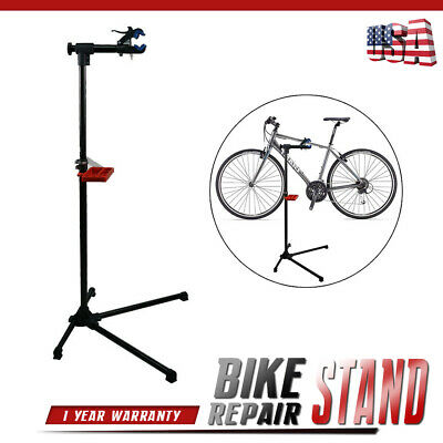 """Bike Repair Stand Adjustable 42"""" To 74"""" W/Telescopic Arm Bicycle Cycle Rack"""