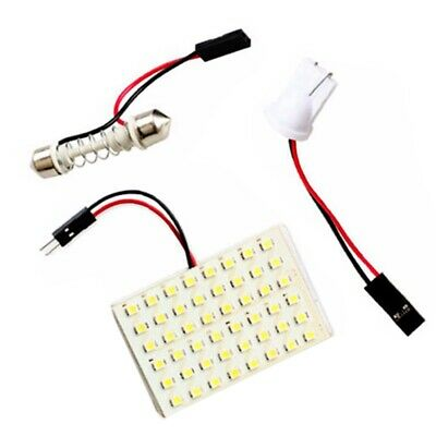 3X(48 Smd Cob Led T10 4W 12V White Light Car Interior Panel Lights Dome Lam J6X8